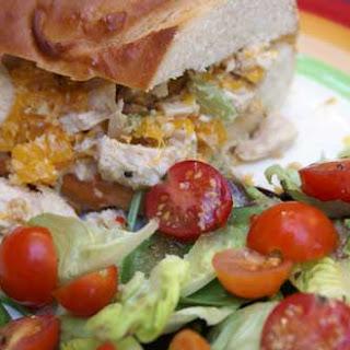 Sweet Asian Chicken Salad Sandwiches.