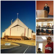 Photo: Kalonji speaking at Lake Providence Missionary Baptist Church