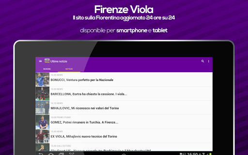 Firenze Viola - Fiorentina app (apk) free download for Android/PC/Windows screenshot