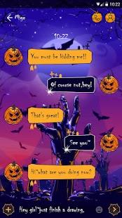 (FREE) GO SMS MYSTERIOUS HALLOWEEN THEME - náhled