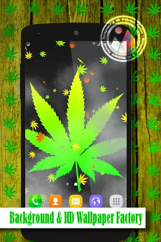 "Get ""Weed Live Wallpaper"" and join the Rastafari movement today, with this amazing free Weed Live Wallpaper - just don't worry and be happy!"