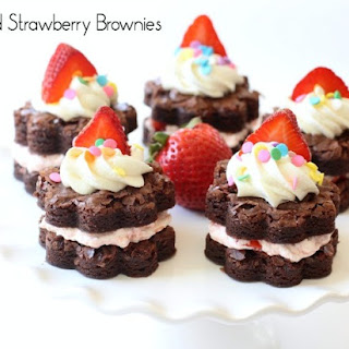 STACKED STRAWBERRY BROWNIES