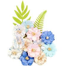 Prima Golden Coast Mulberry Paper Flowers 14/Pkg - Redondo UTGÅENDE