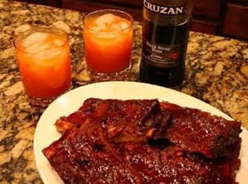 Rum Glazed Spare Ribs
