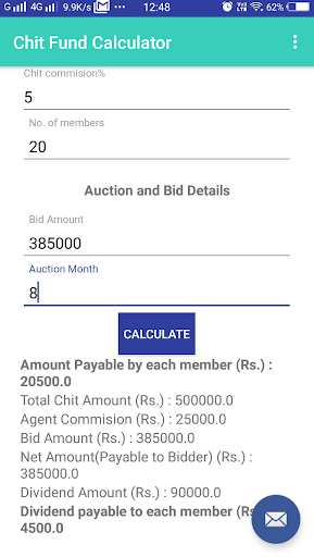 Chit Fund Calculator