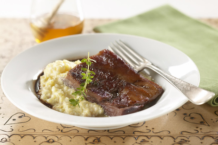 Braised Pork Belly with Creamy Grits Recipe