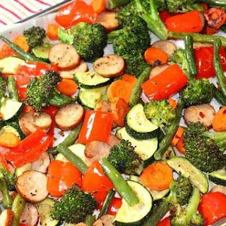 Sheet Pan Low Carb Sage Sausage and Veggies.
