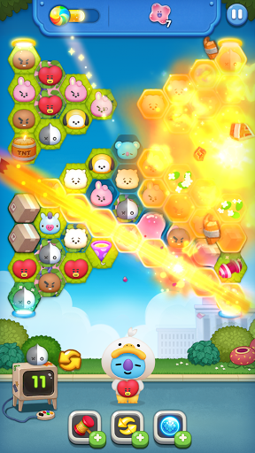 LINE HELLO BT21- Cute bubble-shooting puzzle game! 2.0.1 screenshots 1