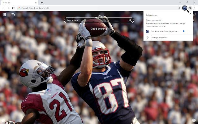 NFL Football HD Wallpapers New Tab Theme