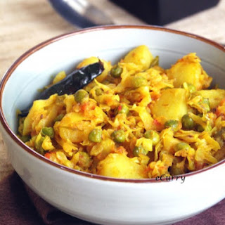 Cabbage with Peas and Potatoes/Bandhakopir Torkaari