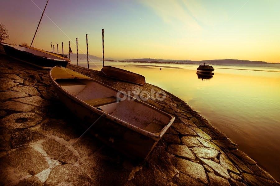 Arona by Cristina Casati - Transportation Boats ( aroma, piedmont, lake, novara, italy )