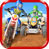 Dirtbike vs Atv Motocross Race