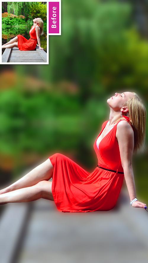 Screenshot 1 DSLR Camera Blur Background , Bokeh Effects Photo 2.1 APK PAID