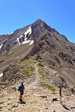 Photo: Mark at Headquarters pass - We decided not to go the ridge route.