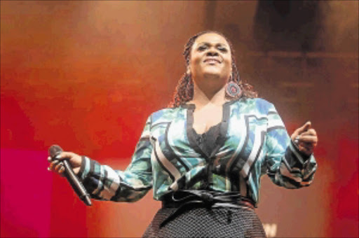 SOUL SISTER: Jill Scott performs at the Cape Town  Jazz Festival  held at the International Convention Centre  on Saturday
