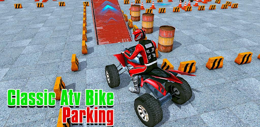 ATV quad bike parking game is driving training to park among hard parking lots