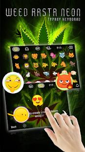 Weed Rasta Neon Theme&Emoji Keyboard - náhled