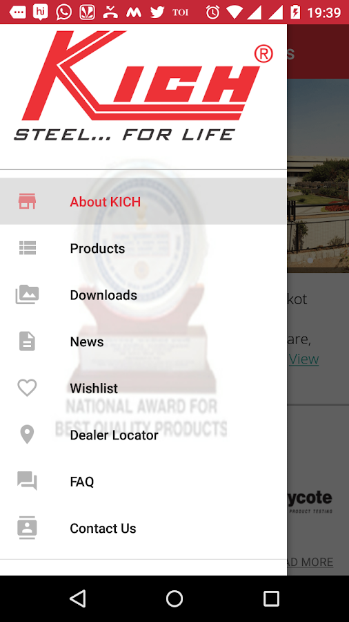 Kich Architectural Products- screenshot