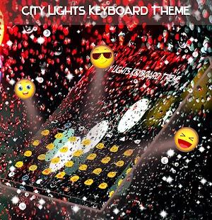 City Lights Keyboard Theme - náhled