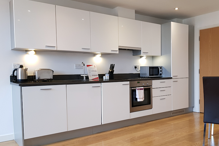 Fully equipped kitchen at Southwark Executive