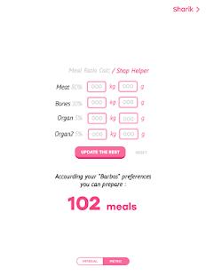 Raw Dog Food Calculator App