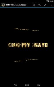 3D My Name Live Wallpaper screenshot 11