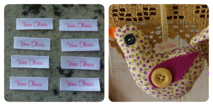 Photo: Taghette di stoffa personalizzate