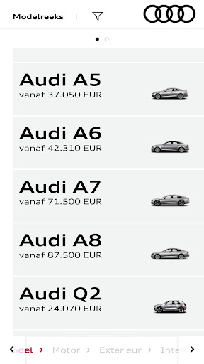 Audi Configurator BE screenshot 2