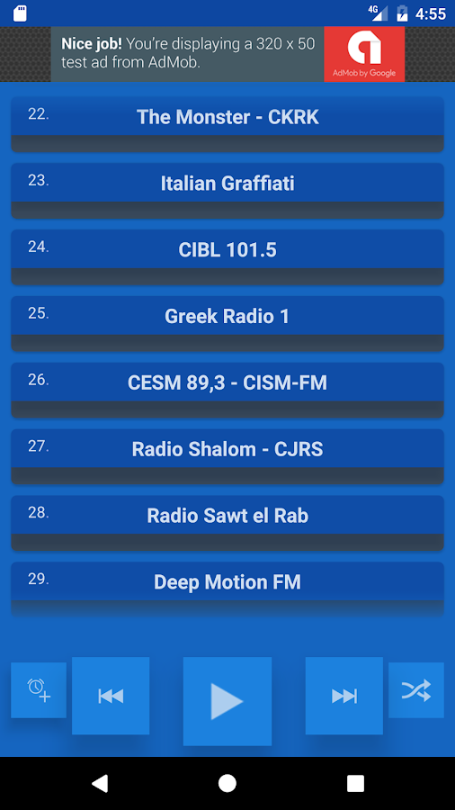 Montreal Radio Stations- screenshot