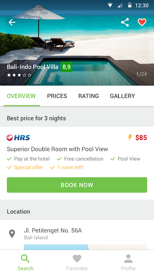 Cheap hotels — Hotellook- screenshot