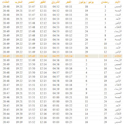 Horaire Priere villes Maroc
