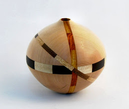 Photo: DON VAN RYK - Hollow Segmented Sphere - Maple w/Multiple Woods