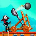 The Catapult: Castle Clash with Stickman Pirates icon