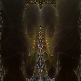 Copycat Of The Three Cloud by Rick Eskridge - Illustration Sci Fi & Fantasy ( fantasy, jwildfire, mb3d, fractal, twisted brush )
