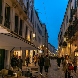 November Night, Padova by Hariharan Venkatakrishnan - City,  Street & Park  Street Scenes