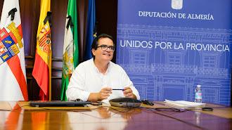Diputado de Promoción Agroalimentaria, Antonio J. Rodríguez en la reunión virtual.