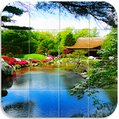 Tile Puzzle Japanese Gardens