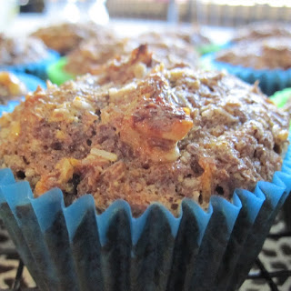 Carrot Cake Flax Seed Muffins