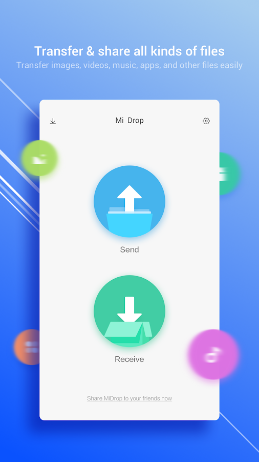 Share & Transfer File - Mi Drop- screenshot