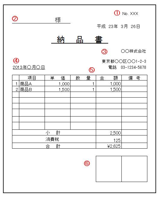 納品書 (のうひんしょ) - Japanese-English Dictionary - JapaneseClass.jp