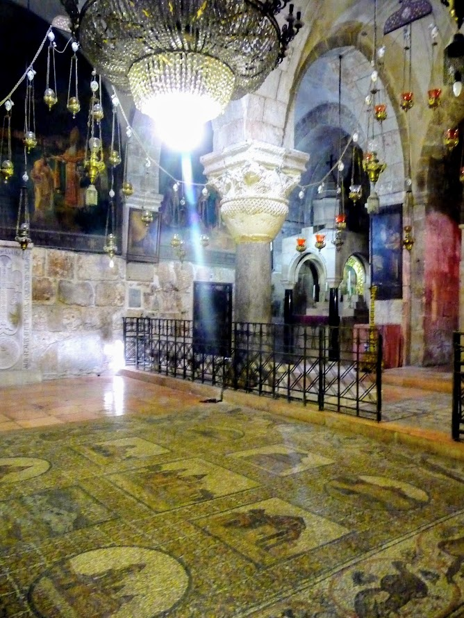 Mosaic floor of the Chapel of St. Helena, Church of the Holy Sepulchre