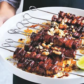 Maple Caramel Pork Belly Skewers Recipe