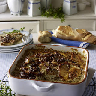 Creamy Pork, Onion and Thyme Casserole.