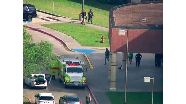 Shooter at Santa Fe high school in Texas