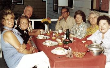 Photo: Ingrid Christiansen, Dagney Holz, Walter Holz, Franklin Anderson, Tecla (Babiak) Anderson, Emilie (Stenersen) Christiansenand Florence (Osmundsen) Anderson (my mother)