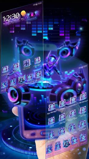 3D Neon Hologram DJ Music Theme for PC