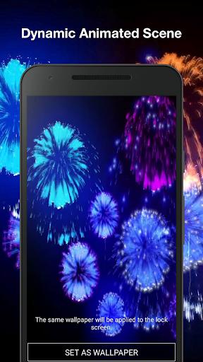 3d fireworks live wallpaper pro screenshot 2