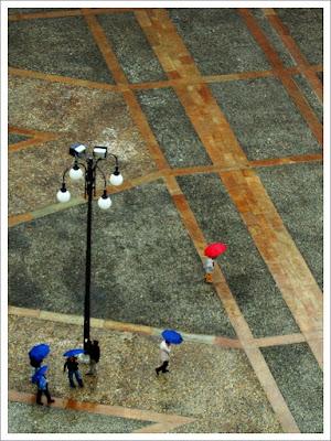 La pioggia colora la piazza di hylablu