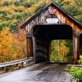 Squam River Covered Bridge by Margie Troyer - Buildings & Architecture Bridges & Suspended Structures