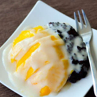 Thai Black Sticky Rice with Mango